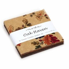 Oak Haven Charm Pack by Kansas Troubles Quilters for Moda Fabrics, 5 x 5 Squares