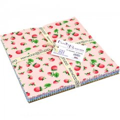 "Berries and Blossoms Layer Cake (40 - 10"" x 10"" squares) designed by Kim's Cause Collection for Maywood Studio, 100% Premium Cotton"