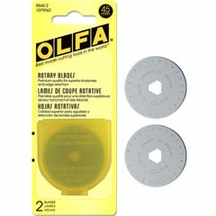 2 forty-five mm blades by OLFA to fit your Rotary Cutter