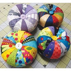 Color Wheel Pin Cushion Kit/Pattern designed by License to Quilt for Moda Fabrics