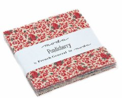 "Pondicherry Charm Squares (5"" x 5"" squares) by French General for Moda Fabrics, 100% Premium Cotton"
