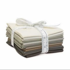 12 Bella Solid Graduated Taupe Fat Quarters designed by Moda Fabrics, 100% Premium Cotton
