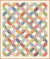 """Playtime Quilt Pattern designed by Miss Rosie's Quilts, Fat 8 friendly, 66"""" x 78"""""""