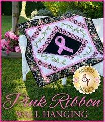 Pink Ribbon Wall Hanging by Shabby Fabrics