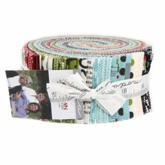 Hometown Christmas Jelly Roll ( 40 x 2 1/2 WOF) Strips designed by Sweetwater for Moda Fabrics