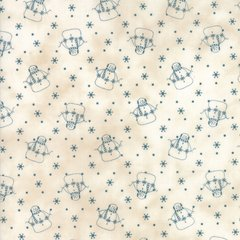 Snowman Gatherings  III Tallow Blue Print designed by Primitive Gatherings for Moda Fabrics, 100% Premium Cotton by the Yard