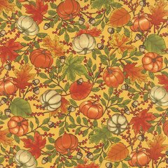 Welcome Fall Golden Print by Moda Fabrics, 100% Premium Cotton by the Yard