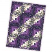 "Arabella Violet 12 Block Log Cabin Precut Quilt Kit, 29"" x 39"""