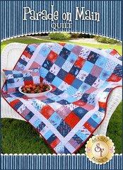 """Parade on Main Quilt by Shabby Fabrics, 53"""" x 53"""""""