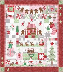"Sugar Plum Christmas Kit "" the Christmas Mouse"" designed by Bunny Hill Designs for Moda Fabrics"