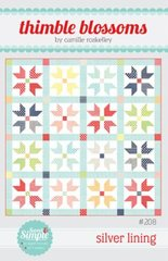 Silver Lining Thimble Blossoms Pattern using a Jelly Roll or a Layer Cake by Bonnie and Camille for Moda Fabrics