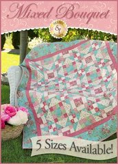 Mixed Bouquet Pattern by Shabby Fabrics, 5 sizes included