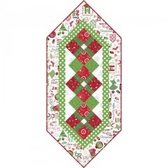 "Jingle all the Way 17"" x 38"" Table Runner Kit designed by Debbie Beaves for Maywood Studio"