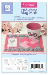 Spiritual Inspirational Mug Mat Patterns, seven printed statements with seven patterns to create a mug mat for each day of the week