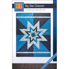 """Big Star Chevron Quilt Pattern, a simple and dramatic Star, quilt size is approx 58"""" x 74"""""""