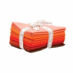 12 Bella Solids Graduated Orange Fat Quarters by Moda Fabrics, 100% Premium Cotton