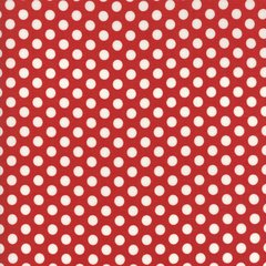 Hometown Christmas Edition White Polka Dots on Red Print designed by Sweetwater for Moda Fabrics, 100% Premium Cotton by the Yard