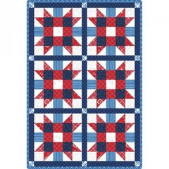 "Sister's Choice 6 Block Red, White and Blue Pre-cut Quilt Kit, 32"" x 47"""