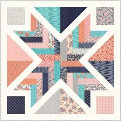 "Sweet Marion Starburst Quilt Kit designed by April Rosenthal of Prairie Grass Patterns for Moda Fabrics, 41"" x 41"""