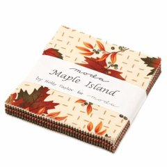 "Maple Island Charm Pack (42 - 5"" squares) designed by Holly Taylor for Moda Fabrics"