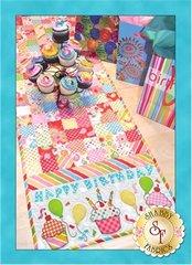Happy Birthday Table Runner by Shabby Fabrics
