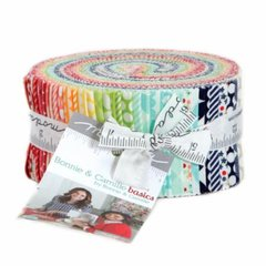 Bonnie and Camille Basics Jelly Roll (42 - 2 1/2 x WOF strips) for Moda Fabrics, 100% Premium Cotton
