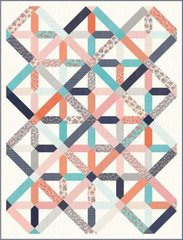 "Sweet Marion Tinker Toy Quilt Kit designed by April Rosenthal of Prairie Grass Patterns for Moda Fabrics, 68"" x 89"""