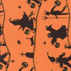 Hocus Pocus Pumpkin Print designed by Sandy Gervais for Moda Fabrics, 100% Premium Cotton by the yard