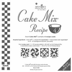 Cake Mix Recipe 4, each Cake Mix recipe contains 44 recipe cards to slice and dice your Quilts Layer Cakes.