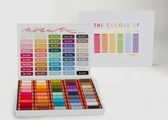 The Colors of Moda Thread Collection, 45 small spools of 50wt Aurifil, 220 yards each