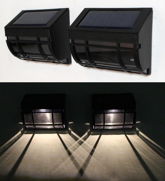 solar fence post cap LED lights/ wall mounted LED lights GREEN NATURAL SOLAR