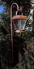 4-Pack Solar Powered Bronze Finish Lantern LED Light with Hanging Cane