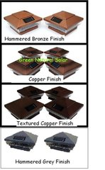 10 Pack Copper 5 x 5 or 6 x 6 Fence Post Cap Solar Lights