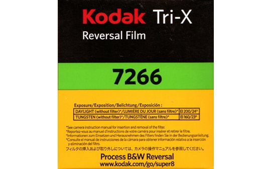 Super 8mm Tri-X Black & White Movie Film Developing (50ft. Cartridge)