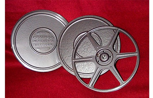 COMPCO Regular 8mm 300 ft. Metal Movie Reel and Can Set (Limited Availability)