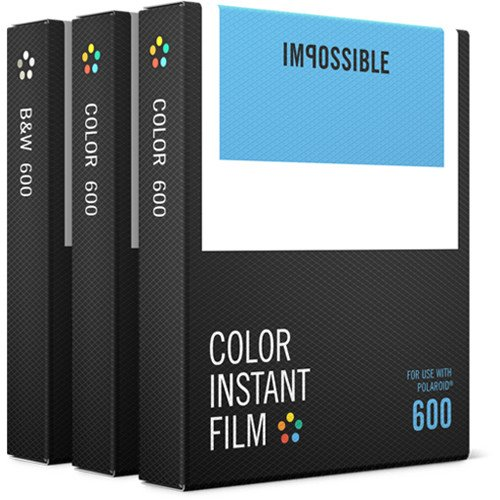 Impossible 600 Triple Pack of Instant Film for Polaroid 600 Instant Cameras