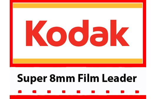 Kodak 'Classic' White Acetate Movie Leader - Super 8mm 50ft. (Discontinued - Limited Supply)