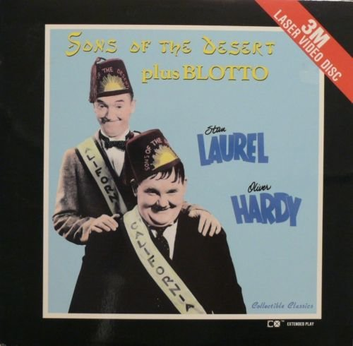 Sons of the Desert and Blotto starring Laurel and Hardy (Double Feature Laserdisc)
