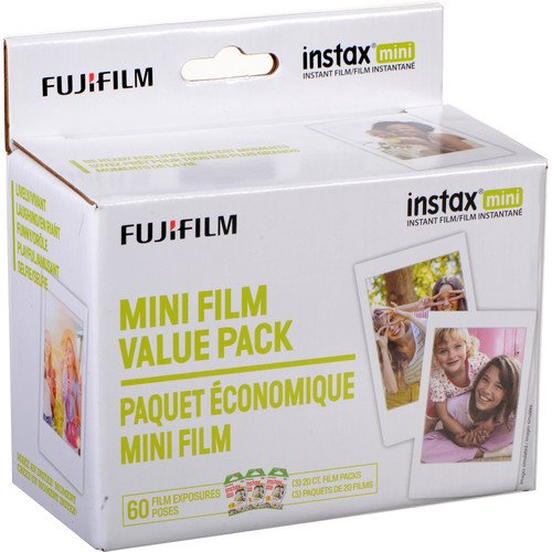 Fujifilm instax mini Instant Film Economy Super Saver Pack (60 Exposures)