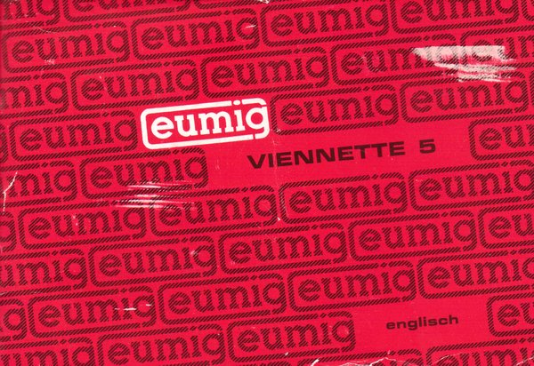Instruction Manual: Eumig Viennette 5 Super 8mm Movie Camera