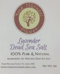 Natural Planet Lavender Dead Sea Salt with Lavender Aromatic Essential Oil -1lb 100% Pure Lavender Bath Salt.
