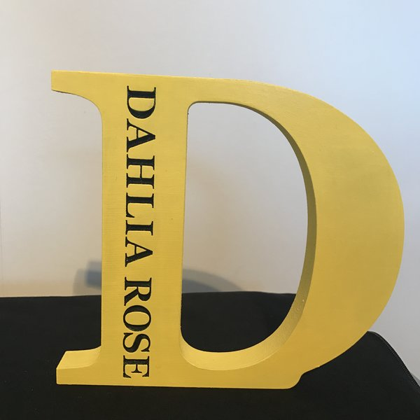 Personalised Engraved Wooden Letter Decoration