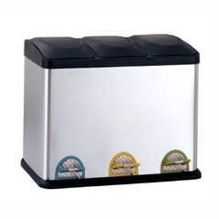 Stainless Steel Organizing Recycling Bin
