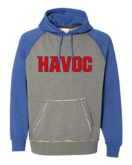 Havoc Baseball J. America-Vintage Heather Hooded Sweatshirt-Regular Print