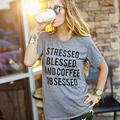 Stressed Blessed & Coffee Obsessed Tee