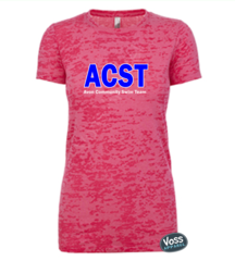 ACST Next Level Ladies or Girls Burnout Tee (Fitted)