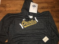 Orioles Football Outline Rhinestone Glitter Hoodie-Black