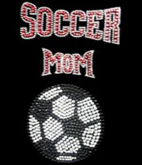 Soccer Mom Vertical Rhinestone Tee, Tank, Long Sleeve, Hoodie