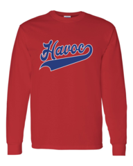 Havoc Baseball Hanes-Long Sleeve Script Print