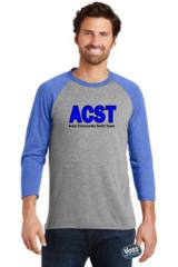 ACST - Tri-Blend Unisex Three-Quarter Sleeve Baseball Tee